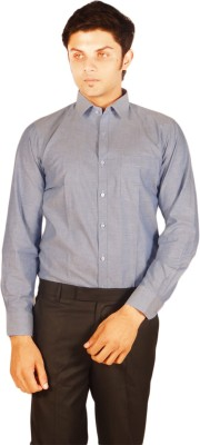 Kriss Men's Solid Casual Blue Shirt