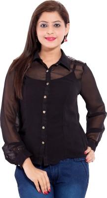 Belomoda Women's Solid Casual Black Shirt