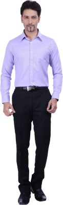 Validus Men's Woven Formal Purple Shirt