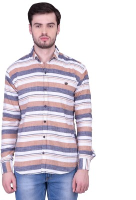 THE SHIRT FACTORY Men's Printed Casual Multicolor Shirt