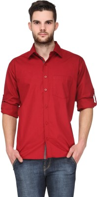 TSX Men's Solid Casual, Formal, Party, Lounge Wear Red Shirt