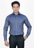 The Mods Formal Shirts (Men's) - The Mods Men's Checkered Formal Blue Shirt
