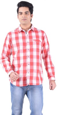 Passport Men's Checkered Casual Red Shirt