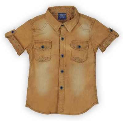 Lilliput Boy,s Solid Casual Yellow Shirt