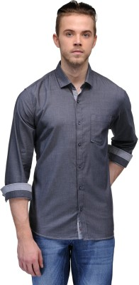 Canary London Men's Solid Casual Black Shirt