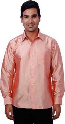 Nanya Men's Solid Casual Pink Shirt