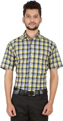 Stylo Shirt Men's Checkered Casual Yellow Shirt