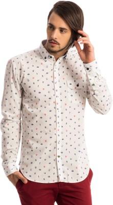 Specimen Men's Graphic Print Casual White Shirt