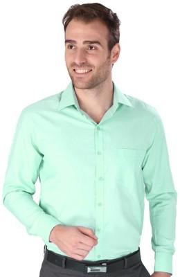 Magson Elite Men's Solid Formal Green Shirt