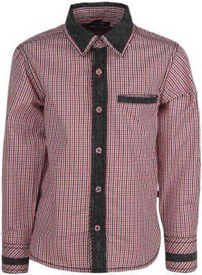Bells and Whistles Boy's Checkered Casual Red Shirt