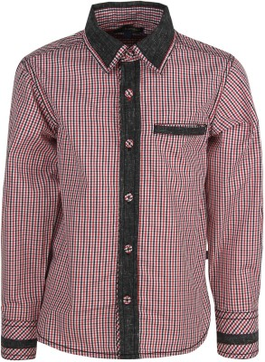 Bells and Whistles Baby Boy's Checkered Casual Red Shirt