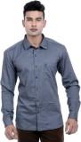 Moustache Men's Solid Casual Grey Shirt