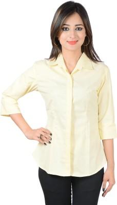 Jazzy Ben Women's Solid Formal Yellow Shirt