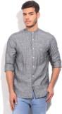 Parx Men's Solid Formal Grey Shirt