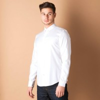Timberland Formal Shirts (Men's) - Timberland Men's Solid Formal White Shirt