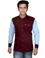 Mensfield Formal Shirts (Men's) - Mensfield Men's Solid Formal Maroon Shirt