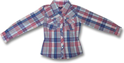 AC Girl's Checkered Casual Multicolor Shirt