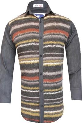 Yzade Men's Striped Casual Multicolor Shirt