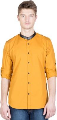 NFC Men's Solid Casual Orange Shirt