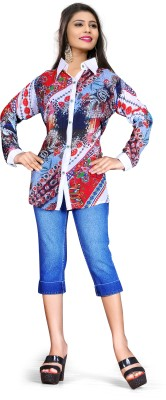 HSFS Women's Printed Casual Multicolor Shirt