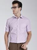 Invictus Men's Striped Casual Purple Shi...