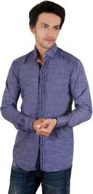 Zrestha Men's Solid Casual Blue Shirt