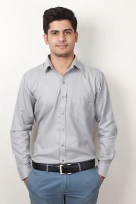 Frissk Men's Solid Formal Grey Shirt