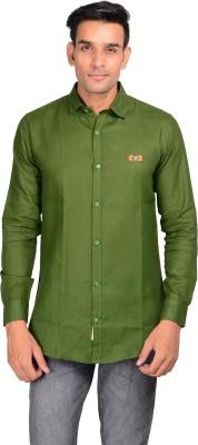 GARGI FASHIONS Men's Solid Casual Dark Green, Blue Shirt