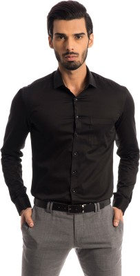Specimen Men,s Solid Formal Black Shirt