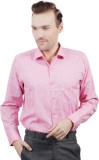 Jorzzer Roniya Men's Solid Casual Pink S...