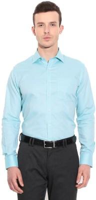 Coffee Bean Men,s Solid Formal Light Blue Shirt
