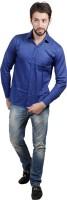 Akaas Formal Shirts (Men's) - Akaas Men's Solid Formal Blue Shirt