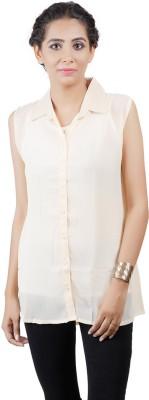 Asmara Women's Solid Casual Brown Shirt