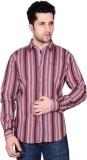 Denimize Men's Striped Casual Multicolor...