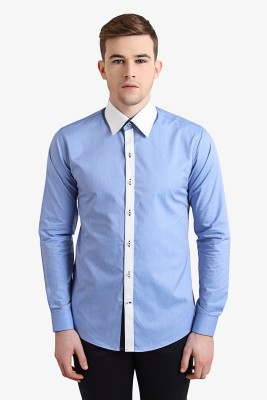 Alvin Kelly Men's Solid Casual Blue Shirt