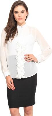 Instacrush Women's Solid Casual Beige Shirt