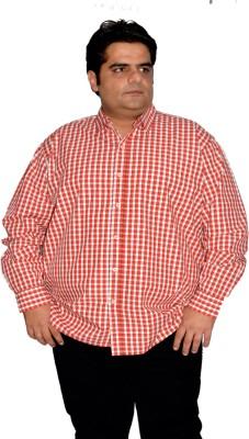 Xmex Men's Striped Formal Reversible Red Shirt