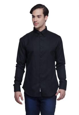 Karsci Men's Solid Lounge Wear Black Shirt