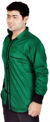 Hd Rascals Men's Solid Casual Green Shirt