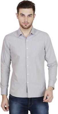 BlackRooster Men's Solid Casual Grey Shirt