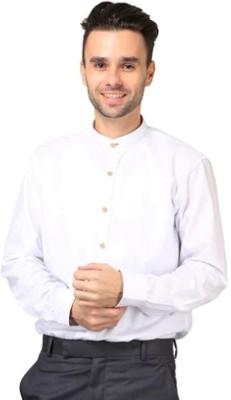 Hutz Men's Solid Formal White Shirt