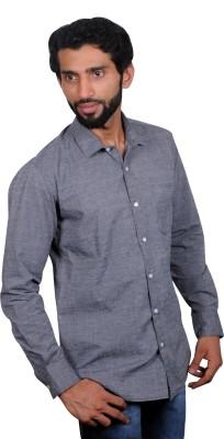 maclavaro Men's Solid Casual Grey Shirt