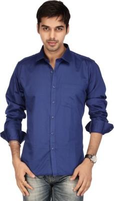Acropolis Men's Solid Formal Blue Shirt