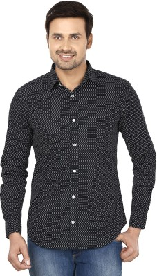Smile By Nature Men's Printed Casual Blue Shirt