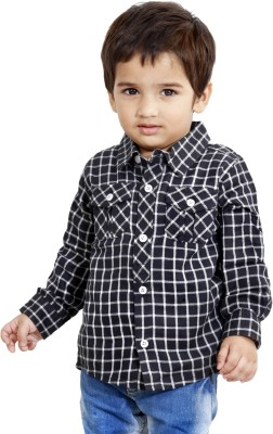 MagPie Boy's Checkered Casual Multicolor Shirt