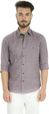 Club X Men's Checkered Casual Linen Purple, Black Shirt