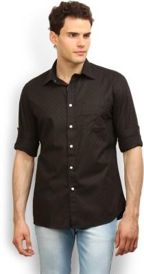 Le Blanc Men's Solid Casual Black Shirt