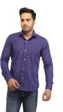 Pede Milan Men's Checkered Casual Purple...