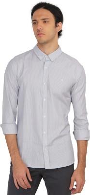 Calvin Klein Men's Striped Casual White Shirt