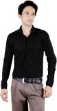Zrestha Men's Printed Formal Black Shirt